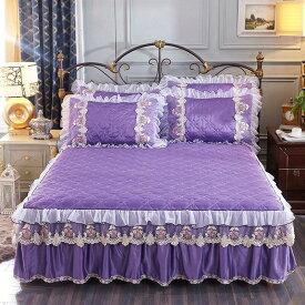 ベッド用品 3点セット 枕カバー ベッドパッド ワイド ダブルサイズ ベッドカバー おしゃれ