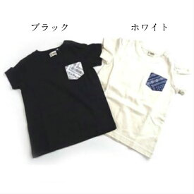 【T/mini】バンダナポケットTシャツ K34824【T/mini】バンダナ柄 Tシャツ 男の子 女の子 ユニセックス キッズ ポケット