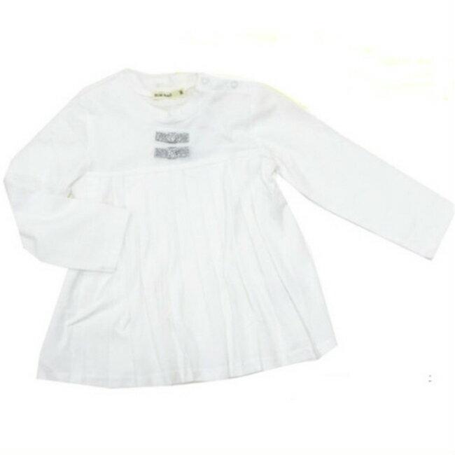 【Miary mail】ミアリーメール リボン付きプリーツTシャツ 14805ミアメール 子供服 プリーツ リボン 長袖 かわいい 女の子