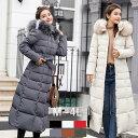 中綿コート ダウンロングコート ベンチコート アウター コート 中綿ジャケット ロングジャケット フード付き ファー付き ベルト付き  大きいサイズ  温かい 軽量 防寒 冬 M L 2L 3L 4L