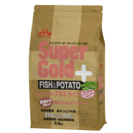【スーパーゴールド ドッグ】フィッシュ&ポテト プラスライト肥満・関節ケア用 2.4kg【10P05Nov16】