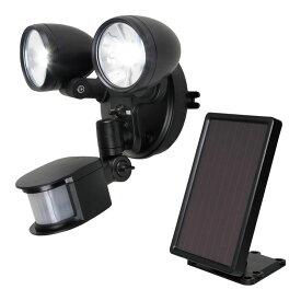 ソーラーセンサーライト 2灯 (MSL-SOL4W) 単品 [キャンセル・変更・返品不可]