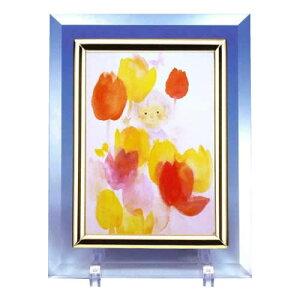 クリスタル(ちひろ絵はがき一枚入り) 114576・花と少女(横)
