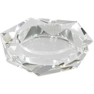 卓上灰皿 クリスタルガラス灰皿 ヘキサゴンカット