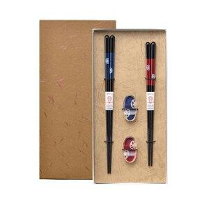 ISHIDA イシダ ギフト用 箸 和紙貼箱 箸置付 2膳入 23cm/20.5cm 和蓮根 63153