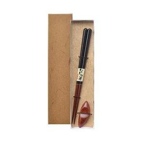 ISHIDA イシダ ギフト用 箸 和紙貼箱 箸置1膳入 23cm だるま 柿の種 63155