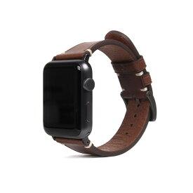 SLG Design(エスエルジーデザイン) Apple Watch バンド 38mm/40mm用 Italian Buttero Leather ブラウン SD18386AW