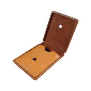 LIFE 木と革の携帯灰皿カバー キャメル ashtray_ca