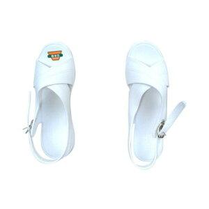O脚修正クロスバンド ナースサンダル ホワイト LLサイズ(24.5〜25.0cm) [ラッピング不可][代引不可][同梱不可]