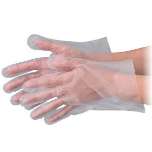 No.340 ポリクリーンエンボス 食品衛生法適合 使い捨て手袋半透明 Mサイズ 袋入 100枚入 [キャンセル・変更・返品不可]