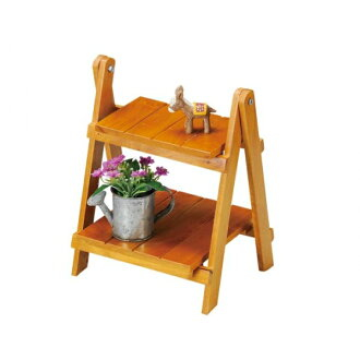Rubber Wood two steps shelf umber 100360802 [cancellation, change, returned goods impossibility]