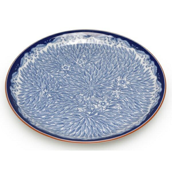 [ロールストランド] 1012348 オスティンディア フローリス プレート 20cm 皿 ブルー [キャンセル・変更・返品不可]