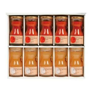 ノースファームストック 北海道産ミニトマトボトルとアップルボトルのセット10本入り RTA-10 [キャンセル・変更・返品不可]