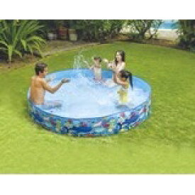 JILOng ガーデンプール240cm/空気注入不要!簡単組立式プール [キャンセル・変更・返品不可]