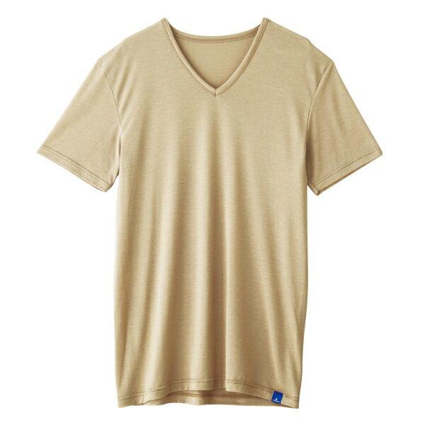 GUNZE(グンゼ) COOLMAGIC(クールマジック)/吸汗天竺(吸汗速乾×冷感×消臭) VネックTシャツ(日本製) [キャンセル・変更・返品不可]
