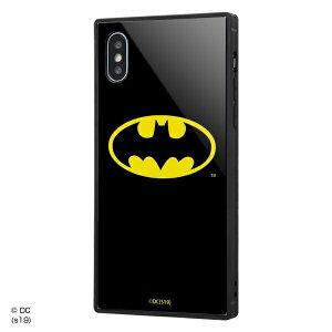 iPhone XS / X /バットマン/耐衝撃ガラスケース KAKU/バットマンロゴ [キャンセル・変更・返品不可]