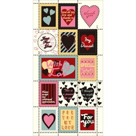 STAMP SEAL MESSAGE HEART ※同柄10枚セット [キャンセル・変更・返品不可]