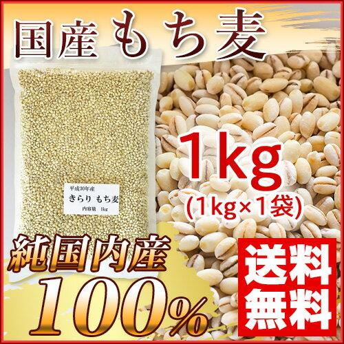 国産 もち麦 1kg (純国内産10割) [メール便][送料無料]