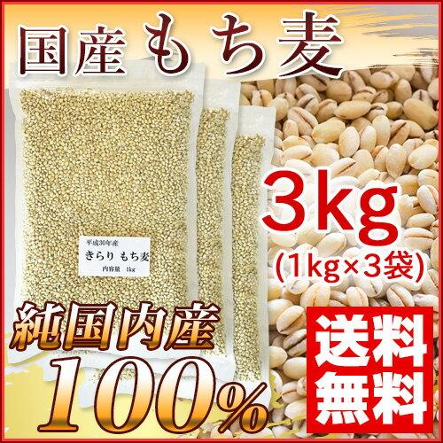 国産 もち麦 3kg (純国内産10割) [送料無料]