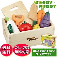 woodypuddyはじめてのおままごとサラダセット(木箱入り)G05-1139