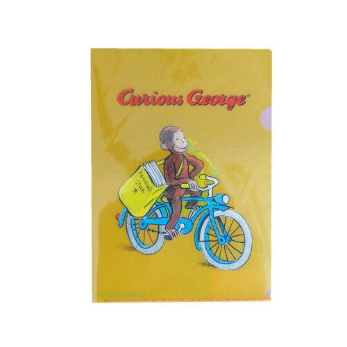 キュリアスジョージ(おさるのジョージ) A4 クリアファイル 自転車 11389 ファイル ステーショナリー 文房具 文具 書類 プリント 整理 キャラクター 送料込み メール便配送