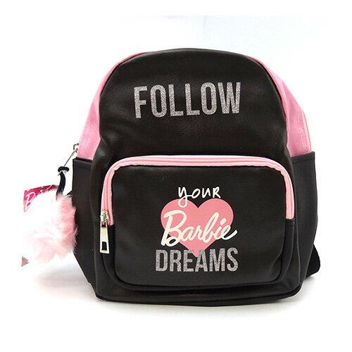 バービー バックパック ミニ DREAMS 11594 Barbie リュックサック バッグ バック リュック 鞄 かばん ふわふわチャーム ブラック ピンク 女の子 インポート メール便不可【ds】