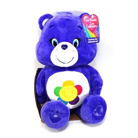 ケアベア ぬいぐるみ ミディアム (ハーモニーベア) Care Bear Harmony Bear 花 フラワー スマイル パープル 人形 くま おもちゃ グッズ インポート アメリカ 輸入メール便不可 11676g