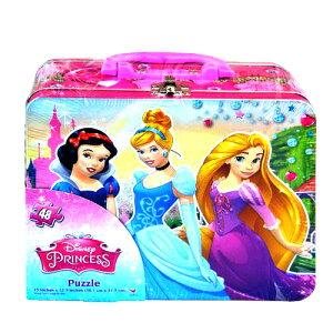 ディズニープリンセス ジグソーパズル 48ピース 缶ボックス入り 11834 おもちゃ ディズニー Disney Puzzle ティン 缶 BOX トランク 女の子 かわいい シンデレラ ラプンツェル 白雪姫 キャラクター