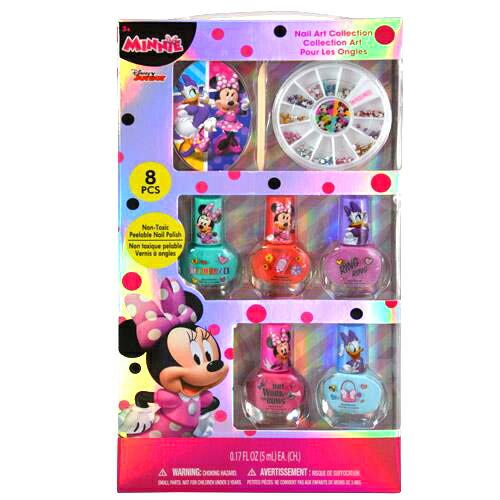 子供会 景品 ミニーマウス ネイル ネイルアートセット 8PCS ネイルセット ミニー Disney MINNIE おもちゃ おしゃれ マニキュア キッズコスメ 子供用 女の子 キャラクター プレゼント ギフト グッズ 12689 メール便配送 送料無料