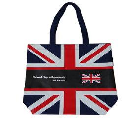Bandiera(バンディエラ) ナショナルフラッグ ショルダートートバッグ L ジッパーなし コンビニ エコバッグ エコ ミニエコ UK かっこいい フラッグ柄 イギリス国旗 イギリス ユニオンジャック 地図 英国 10703 メール便不可