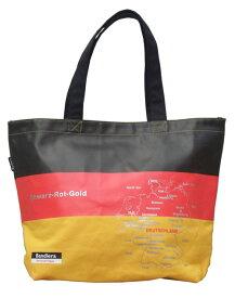 Bandiera(バンディエラ) ナショナルフラッグ ショルダートートバッグ L ドイツ コンビニ エコバッグ エコ ミニエコ ジッパーなし 国旗 地図 雑貨 グッズ 10704 メール便不可