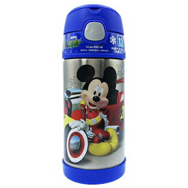 【訳あり】ミッキーマウス 水筒 サーモス ストローボトル ロードレーサーズ ブルー 13652bc THERMOS 保冷 ステンレス すいとう 青 ディズニー Disney ミッキー Mickey フックハンドル 子供 子ども こども キッズ 男の子 女の子 キャラクター グッズ メール便不可
