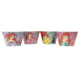 アリエル メラミン ボウル セット 13758 ディズニープリンセス 食器 子ども 子供 キッズ リトルマーメイド Disney Princess メラミン食器 女の子 ピンク パープル ブルー グリーン メール便不可