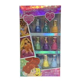 ディズニープリンセス キッズ マニキュアセット BOX 8PCS 13802 Disney Princess おもちゃ ネイル はがせる おしゃれ 女の子 子供用 子供 子ども かわいい マニキュア オシャレ ラプンツェル アリエル ベル シンデレラ インポート 輸入品 プレゼント クリスマス メール便不可