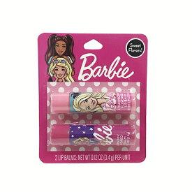 バービー リップ 2本セット 14104 リップバーム 保湿Barbie キッズ コスメ かわいい 女の子 リップクリーム おしゃれ インポート 景品 ギフト プレゼント 輸入品 日本未入荷 レア ピンク メール便配送