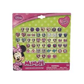 ミニー ピアスシール 14111 MINNIE シールイヤリング ディズニー Disney アクセサリー ハート ピアス 24ダイカット キッズアクセ おもちゃ 子供用 子ども キッズ おしゃれ 女の子 かわいい キャラクター 景品 まつり 雑貨 グッズ メール便配送