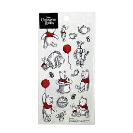 プーさん クリアシール バルーンフレンズ DS584 14895 Pooh くまのプーさん ディズニー ラッピングシール ラッピング ごほうびシール ステッカー かわいい インディゴ キャラクター グッズ 雑貨 ラッピンググッズ ラッピング用品