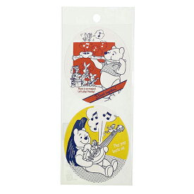 プーさん シール オーバル DS170 14898 レトロ Pooh プーさん ディズニー ラッピングシール ラッピング ごほうびシール ステッカー かわいい インディゴ キャラクター グッズ 雑貨 メール便可