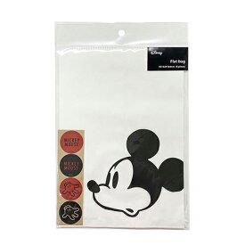 ミッキー フラットバッグ (M) フェイスWH 8枚入り DP444 14945 紙袋 micky シンプル かわいい かっこいい 簡易包装 キャラクター かわいい 男の子 Disney ディズニー お菓子袋 ラッピング 袋 プレゼント シール付き インディゴ 包装 ラッピング用品