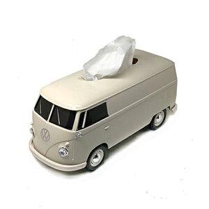 フォルクスワーゲン バス ティッシュケース (CR) pud670 ワーゲンバス ワーゲン ティッシュペーパー ソフトパック 車 クリーム レトロ インテリア 収納 ティッシュカバー 小物入れ おしゃれ か