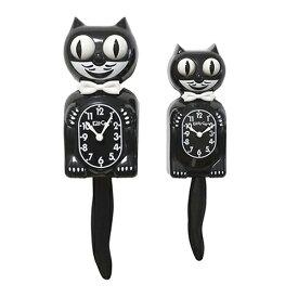 キットキャットクロック キティ ( ブラック ) KITCAT-KTI Kit-Cat klock 黒 黒猫 小さい 猫 ねこ 蝶ネクタイ 掛け時計 掛時計 時計 インテリア 雑貨 グッズ おしゃれ おもしろ デザイン モチーフ かわいい アメリカ MADE IN U.S.A pud682