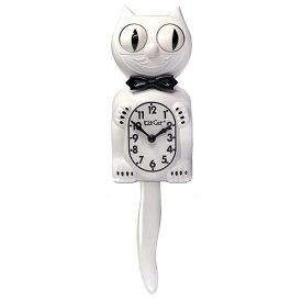 キットキャットクロック ( ホワイト ジェントルマン ) KITCAT-BC12BB Kit-Cat klock 白 猫 ねこ 蝶ネクタイ 掛け時計 掛時計 時計 インテリア 雑貨 グッズ おしゃれ おもしろ デザイン モチーフ かわいい アメリカ MADE IN U.S.A pud683