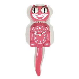 キットキャットクロック ( レディ ピンク ) ストロベリーアイズレディ KITCAT-LBC39 Lady Kit-Cat klock 女の子 かわいい まつ毛 猫 ねこ 掛け時計 掛時計 時計 インテリア 雑貨 グッズ おしゃれ おもしろ デザイン モチーフ アメリカ MADE IN U.S.A pud684