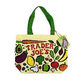 トレーダージョーズ エコバッグ ベジタブル 14830 トレジョ トートバッグ 布トート トート バッグ レジ袋 スーパー ショッピングバッグ トレーダージョー 野菜 フルーツ おしゃれ かわいい カラフル 男女兼用 アメリカ インポート 輸入品 メール便配送
