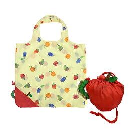 はらぺこあおむし エコバッグ (りんご) 14850 コンパクト かわいい 収納 総柄 フルーツ柄 トートバッグ りんご はらぺこ あおむし 絵本 エリックカール キャラクター グッズ プレゼント 景品 ラッピング メール便不可