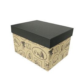 くまのプーさん ギフトボックス Pooh フレームk (深型) DB038 14862 ギフト ボックス 箱 ラッピンググッズ ラッピング用品 総柄 シンプル かわいい 小物収納 収納 クラフトボックス おしゃれ 小物入れ BOX 日本製 プレゼント インディゴ メール便不可