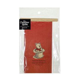 くまのプーさん ボトムバッグ (ss) ハットRE 4枚入り DP573 14954 レッド プーさん POOH ラッピング 袋 紙袋 キャラクター バレンタイン インディゴ ワイヤー ギフト お菓子 かわいい 雑貨 グッズ