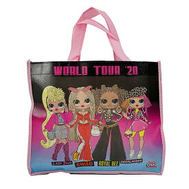 バッグ ショッパーバッグ (Sサイズ/LOL) 15415 トート トートバッグ ショッパー エコバッグ エコ B5 不織布 手提げ マチあり ピンク ブラック 黒 L.O.L エルオーエルサプライズ 女の子 かわいい キャラクター グッズ 雑貨 インポート 輸入品