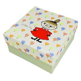 ムーミン ギフトボックス (リトルミイフラワー) 9046 ギフト ボックス MB822 箱 蓋 ラッピンググッズ ラッピング用品 グッズ プレゼントボックス かわいい 小物収納 収納 クラフトボックス 花柄 BOX 日本製 プレゼント インディゴ メール便不可