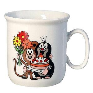 クルテク マグカップ S ( ケーキ ) pud486 KRTEK Thun社 食器 チェコ もぐらのクルテク カップ コップ 小さめサイズ おしゃれ かわいい プレゼント 絵本 キャラクター 雑貨 グッズ PCL5182001